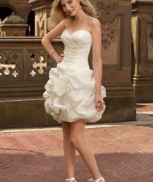 Vestido Corto Strapless en tafetán Princesa 1