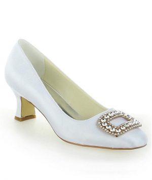 Zapato Bajo Satin con Brillantes 1