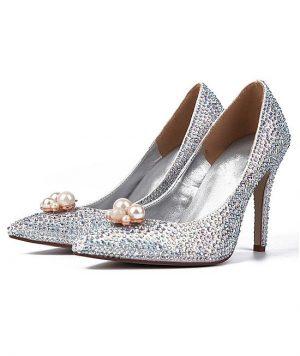 Zapato con Brillantes y Perlas 1