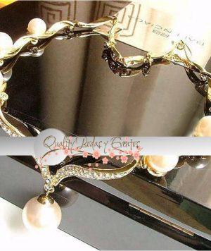 Collar Dorado y Perlas 1
