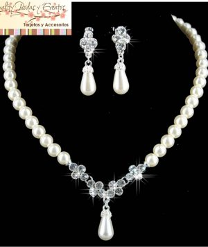 Collar Perla en Lágrima 1